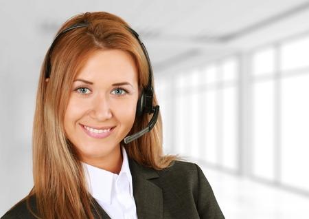 outsourcing: Customer Service Representative, Service, Telephone. Stock Photo