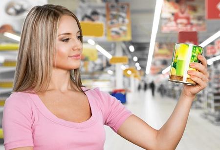shopping binge: Supermarket, Shopping, Groceries. Stock Photo
