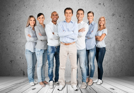 People: Group Of People, People, Friendship. Stock Photo
