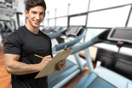 Instructor, Exercising, Coach. Stock Photo