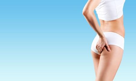 pinch: Overweight, diet, dieting. Stock Photo