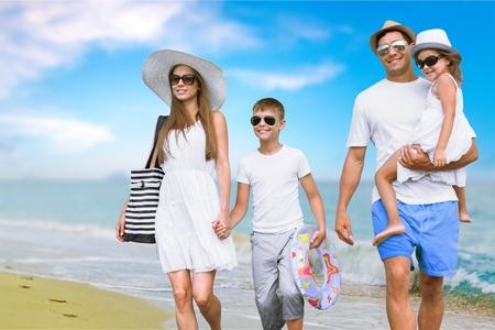 enjoyment: Beach, holiday, travel. Stock Photo