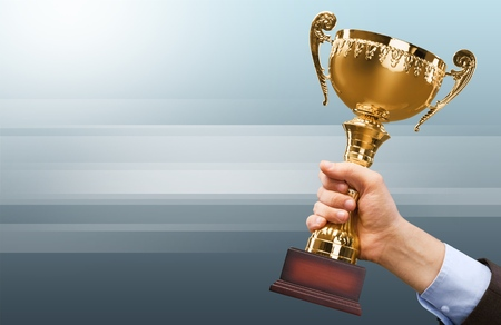 winning first: Trophy, Winning, Award.