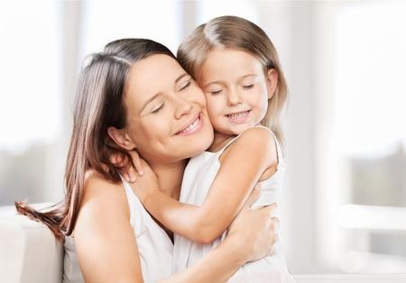 jeune fille adolescente: Mère, fille, bio. Banque d'images