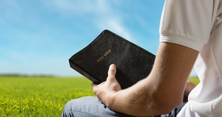 holding bible: Bible, Praying, Men.