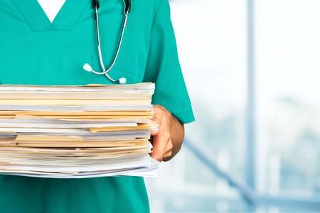 medical occupation: Healthcare And Medicine, Paperwork, Doctor.