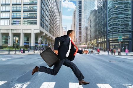going: Running, Men, Business.