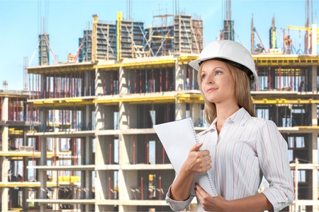 Engineer, Architect, Manual Worker. Stock Photo