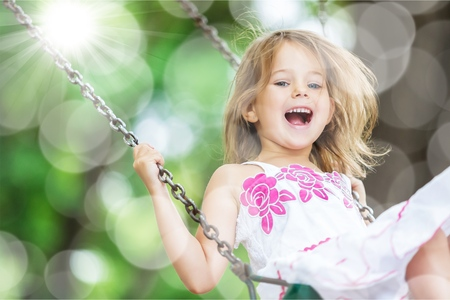 children face: Child, Playing, Playground. Stock Photo