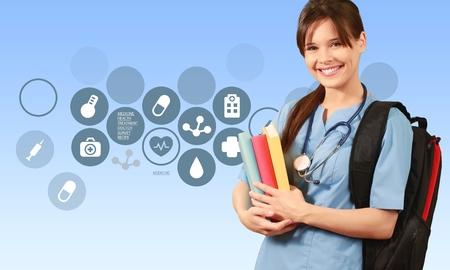 pielęgniarki: Pielęgniarka, Student, Edukacja.