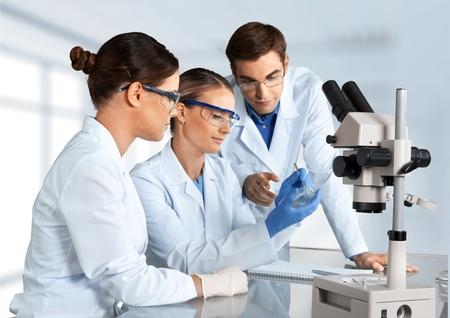 laboratory coat: Laboratory, Biotechnology, Research. Stock Photo