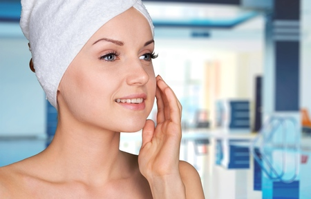 aging face: Microdermabrasion, Peel, Beauty Treatment.