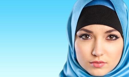 arab hijab: Woman, saudi, full. Stock Photo