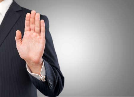 Stop, hand, no. Reklamní fotografie