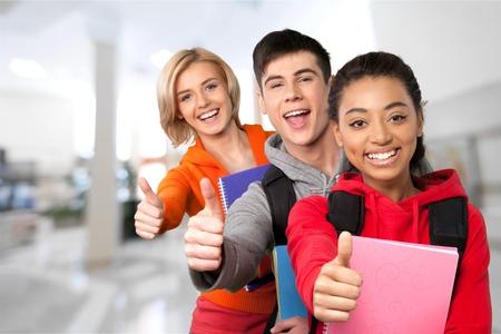studygroup: High School Student, Education, School Children. Stock Photo