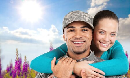 armed: Military, Armed Forces, Family. Stock Photo