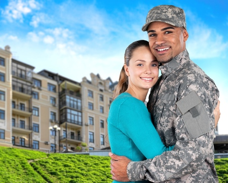 us military: Family, Military, Armed Forces. Stock Photo