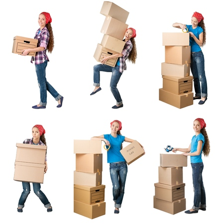 cardboards: Moving House, Moving Office, Box.