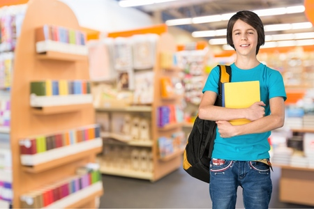 holds: School, stand, group. Stock Photo