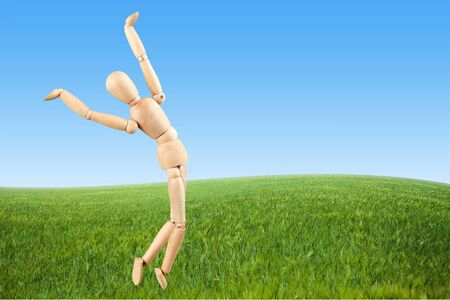 zero gravity: Artists Figure, Mannequin, Falling.