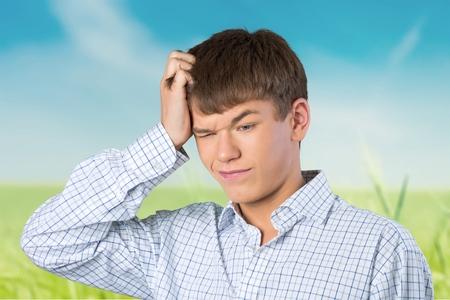 人間の髪の毛: 考えて、10 代、髪の毛。 写真素材