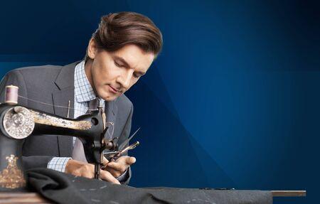 tailor suit: Tailor, suit, human hand.
