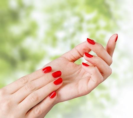 fingernail: Fingernail, Manicure, Nail Polish. Stock Photo