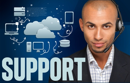 IT Support, Men, Headset.