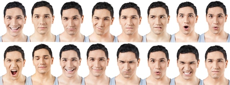 facial expressions: Human Face, Facial Expression, Men.