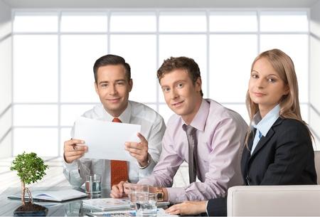 mature business man: Business, Meeting, Businessman. Stock Photo