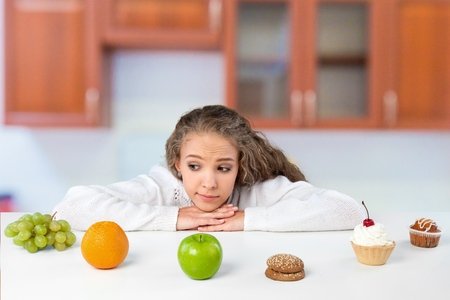 choice: Dieting, Choice, Food. Stock Photo