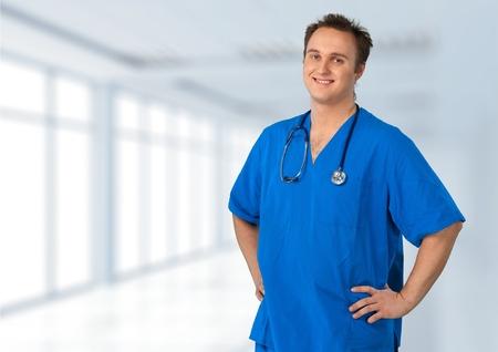 male nurse: Male Nurse, Black, Nurse. Stock Photo