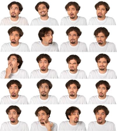 人間の顔の表情、男性。