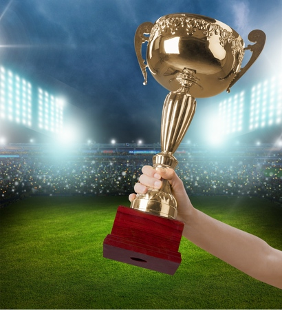 award winning: Trophy, Award, Winning. Stock Photo