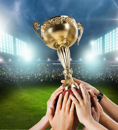 Trophy, Winning, Success. Stock Photo