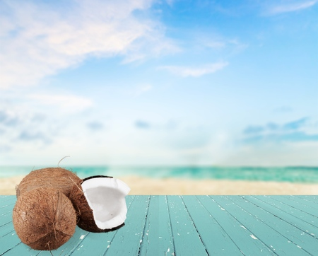 tropical climate: Coconut, Tropical Climate, Isolated.