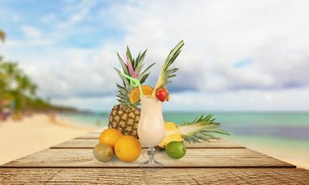 pina colada: Cocktail, Pina Colada, Pineapple.