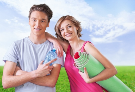 healthy lifestyle: Exercising, Couple, Healthy Lifestyle.