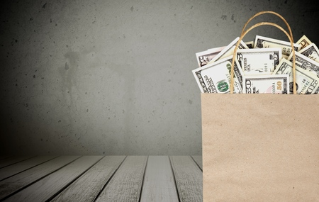dollar bag: Money, dollar, bag. Stock Photo