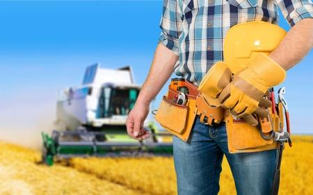 class maintenance: Repairing, tractor, building.