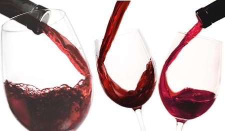 white wine: Wine, White Wine, Pouring. Stock Photo