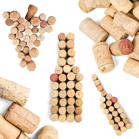 multiple stains: Wine, cork, stain. Stock Photo
