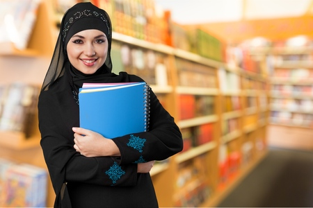fille arabe: Université, arabe. Banque d'images