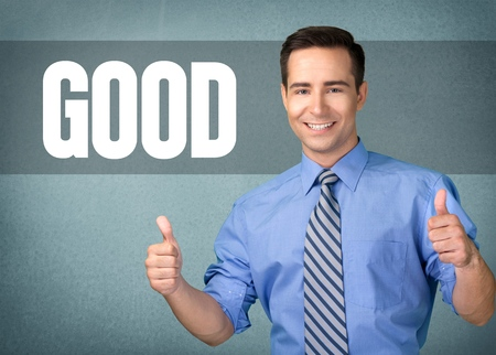 thumbs up business: Men, Thumbs Up, Business. Stock Photo