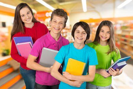schoolchild: School, child, holiday. Stockfoto