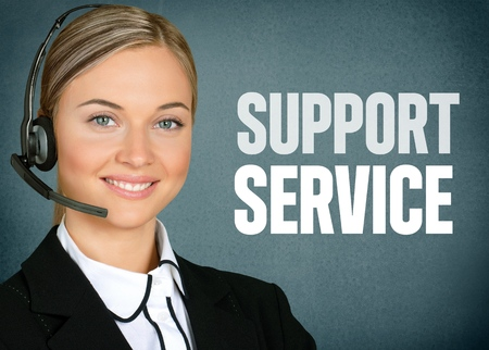 customer service representative: Support, Service, Customer Service Representative. Stock Photo