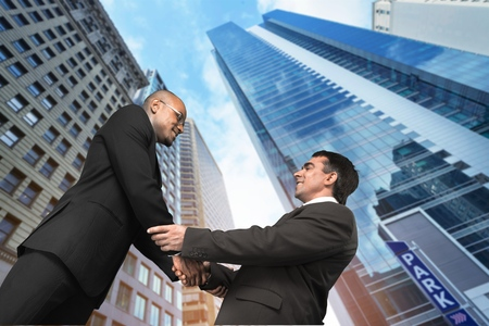 two persons only: Handshake, Business, Businessman.