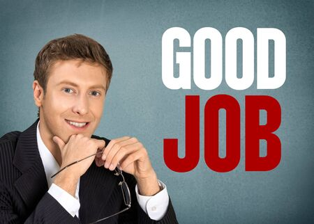 file clerk: Job, Men, Business. Stock Photo