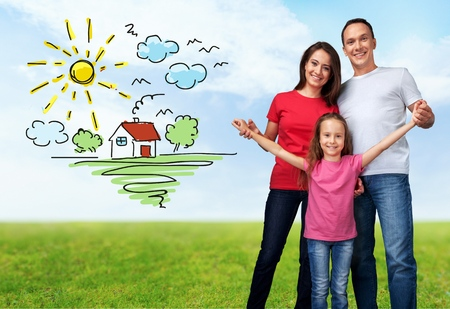 residential structure: House, Family, Residential Structure. Stock Photo