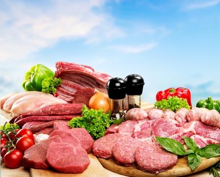 肉、鮮度、肉屋の店。 写真素材